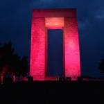 Çanakkale Şehitleri Anıtı LED'le aydınlandı